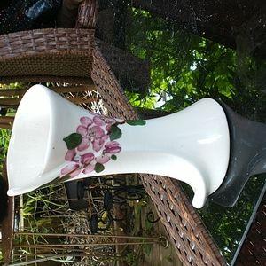 *RARE* Hand Painted Cherry Blossom Ceramic Vase 🌸